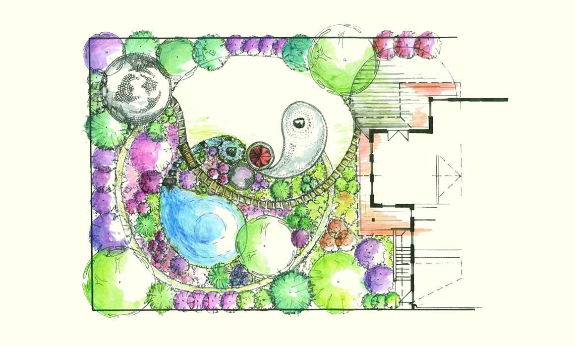 Gartengestaltung Libelle - Isabella Pfenning - Gartenplanung Wien